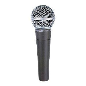 Microfone Profissional Shure SM-58 LC Dinâmico Cardióide Com Bag