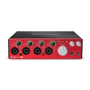 Interface de Áudio Behringer USB Focusrite Clarett 4Pre USB-C c/ ISA preamps e 18 in/8 out
