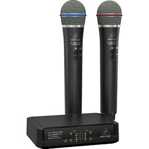Sistema de Microfone Sem Fio Behringer Ultralink ULM302MIC 2.4 GHz (2 Microfones)