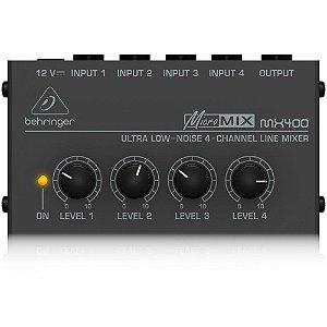 Mixer Compacto Behringer MX400 Micromix 4 Entradas/1 Saída 110V