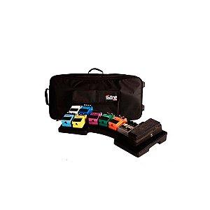 Bag para pedais Gator G-MEGA-BONE-W com Plataforma para Dez Pedais Com Alça e Rodas