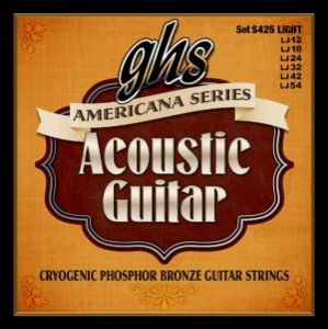 Encordoamento para Violão de Aço GHS S425 Light Série American Acoustic Phospor Bronze