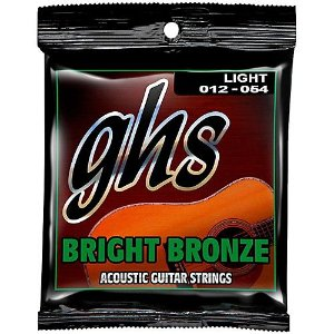 Encordoamento para Violão de Aço GHS BB30L Light Série Bright Bronze