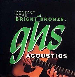 Encordoamento para Violão de Aço GHS CCBB10 Ultralight Série Contact Core (Bright Bronze)