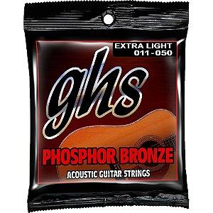 Encordoamento para Violão de Aço GHS S315 Extralight Phospor Bronze