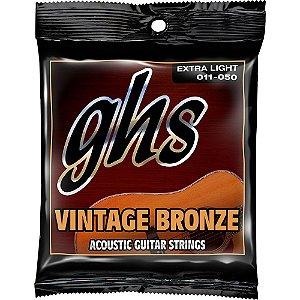 Encordoamento para Violão de Aço GHS VN-XL Vintage Bronze Extralight