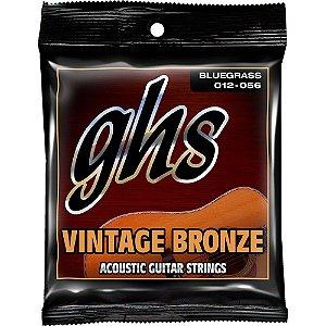Encordoamento para Violão de Aço GHS VN-B Vintage Bronze Bluegrass