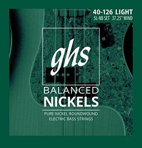 Encordoamento para Contrabaixo GHS 5L-NB Light Série Balanced Nickels (contém 5 cordas)