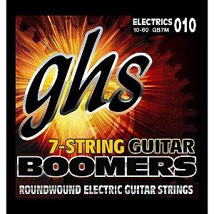 Encordoamento para Guitarra Elétrica GHS GB7M Medium Série Guitar Boomers (contém 7 cordas)