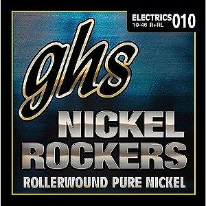 Encordoamento para Guitarra Elétrica GHS R+RL Light Série Nickel Rockers (contém 6 cordas)