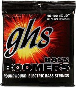 Encordoamento para Contrabaixo GHS ML3045 Medium Light (Escala Longa) Série Bass Boomers (contém 4 cordas)