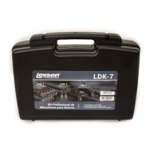 KIT com 7 Microfones para Bateria Lexsen LDK-7