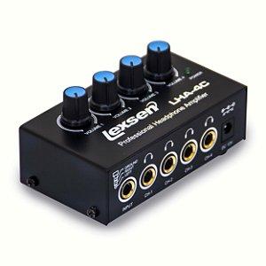Amplificador de Fone de Ouvido Lexsen LHA4C 4 Canais