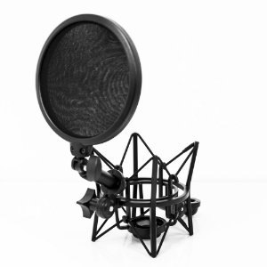 Kit Shock Mount e Pop Filter Lexsen LSM-18 KIT
