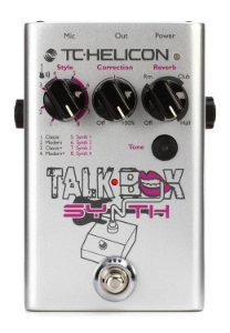 Pedaleira de Voz TC Helicon Talkbox Synth com Refinamento de Timbre Vocal