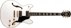 Guitarra Semiacústica Washburn HB35WT Hollowbody White