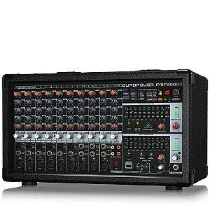 Mesa de Som Amplificada Behringer PMP2000D 14 Canais