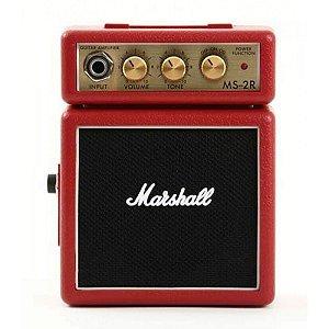 Micro Amplificador Marshall MS-2R Combo para Guitarra Vermelho