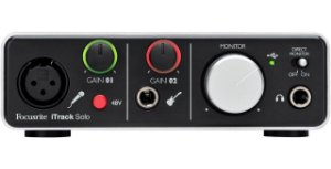 Interface de Áudio Focusrite iTrack Solo USB e Lightning