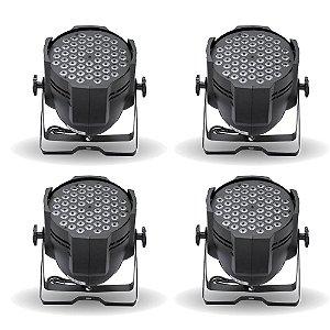 KIT de Iluminação 4 Canhões de LED Strobo T-Rex 54 RGBW 1W DMX Bivolt (4Un)