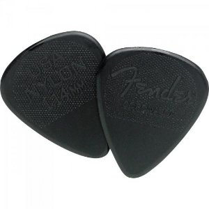 Palheta Nylon Pick 1.14 Extra Grossa Black FENDER (12 UN)