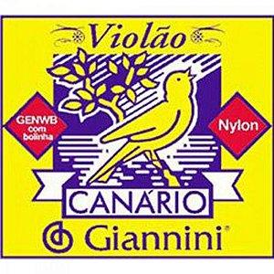 Corda De Nylon GENWB Para Violão 6ª Corda GIANNINI (12 UN)