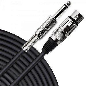 Cabo para Microfone XLR(F) X P10 5m PLAYER Preto HAYONIK