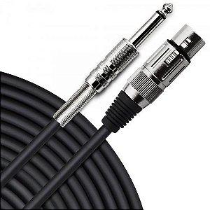 Cabo para Microfone XLR(F) X P10 7m PLAYER Preto HAYONIK