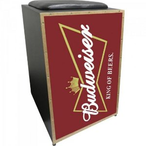 Cajon Acústico Inclinado Profissional K2 COR-001 Budweiser JAGUAR