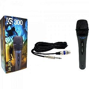 Microfone de Mão Dinâmico LS300 Preto LESON