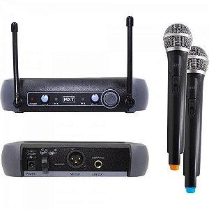 Microfone sem Fio Duplo UHF-202 687.6MHZ/695 MXT
