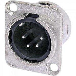 Conector XLR Macho NC4MDL1 Prata 4 pinos NEUTRIK