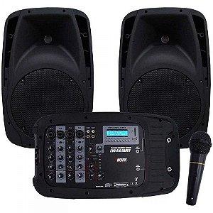 Kit de Som Portátil EVO 410 USB Preto NOVIK