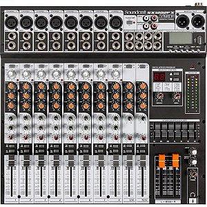 Mesa de Som 12 Canais USB SX1202FX Preto SOUNDCRAFT
