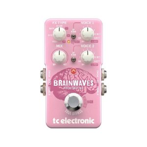 Pedal Pitch Shifter para Guitarra TC Electronic Brainwaves Duplicador Oitavador