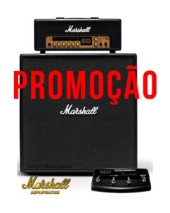 Set Marshall Amp Code 100H + Caixa Code412 + Footswitch Promo