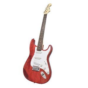 Guitarra Benson Pristine-RD MAD Vermelha em Oak e Maple