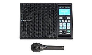 KIT Processador de Voz TC Helicon Singthing All-in-One com Caixa Acústica 150W e Microfone MP-75