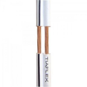 Fio Polar Ext 2x0,20mm 23 Preto TIAFLEX (Rolo com 100 metros)