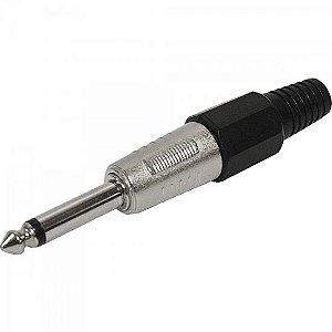 Plug P10 Mono Plástico PGPZ0019 Preto STORM (Pacote com 10)