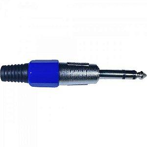 Plug P10 Stereo Plástico Azul PGPZ0015 STORM (Pacote com 10)