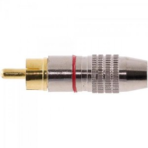 Plug RCA Profissional PGRC0013 Vermelho STORM (Pacote com 10)