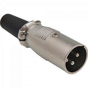 Conector Cannon Macho Com Prensa PGCN0007 Níquel STORM (Pacote com 10)
