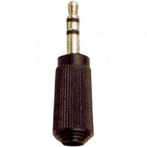 Plug P2 Stereo 104 Preto EMETAL (Pacote com 10)
