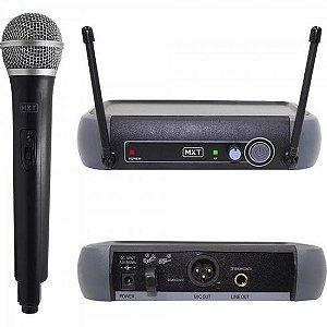 Microfone sem Fio UHF-202/R201 Preto MXT