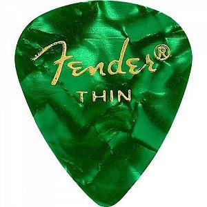 Palheta Celulóide Shape Premium 351 Thin Green Moto FENDER (Pacote com 144 unidades)