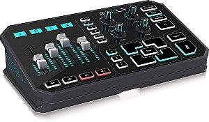 Mesa Digital Helicon Gaming Go XLR Sampler e Processador de Voz e Efeitos para Streamers