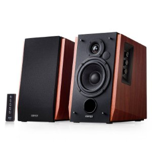Monitor de Áudio Edifier R1700BT 66W RMS Madeira Bluetooth com Controle Remoto (Par)