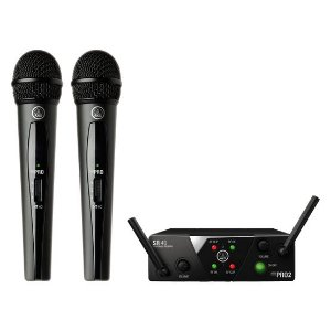 Sistema de Microfone sem Fio Duplo AKG WMS40 Mini Dual Vocal SET BAND US25 B/D