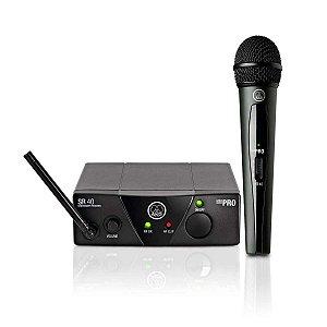 Sistema de Microfone sem Fio AKG WMS40 Mini Vocal Set US25C Cardioide